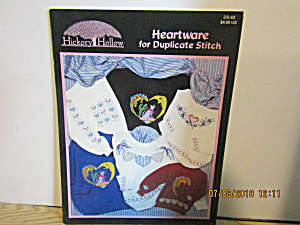 Hickoryhollow Book Heartware For Duplicatestitch #ds-63