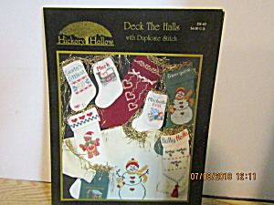 Hickoryhollow Book Deck The Hall Duplicatestitch #ds-65