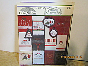 Hickory Hollow Book Hurry-up, Christmas Towels #ds-33
