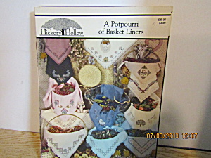 Hickory Hollow Book A Potpourri Of Basket Liners #ds-35