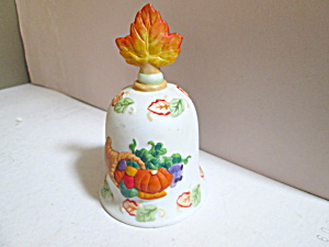 Vintage Russ Thanksgiving Porcelain Bell