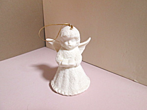 Vintage Holiday Snow Choir Angel Bell Ornament