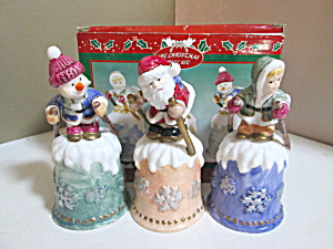 Three Piece Christmas Bell Set