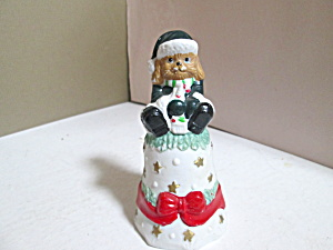 Holiday Animal Bell  Dog Sitting On Bell (Image1)