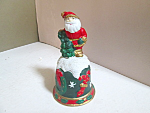 Holiday Santa Porcelain Bell