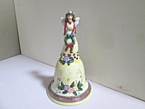 Vintage Porcelain Love Hope Peace Angel Bell