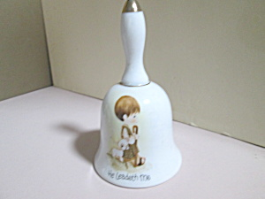 Vintage Porcelain Precious Moments He Leadeth Me Bell