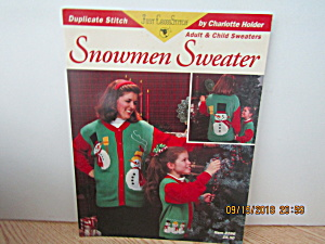 Just Cross Stitch Book Snowman Sweater #286