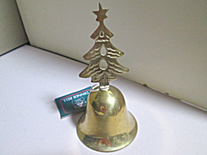 Vintage Solid Brass Christmas House Tree Bell