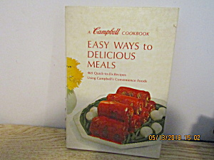 Vintage Campbell's Easy Ways To Delicious Meals