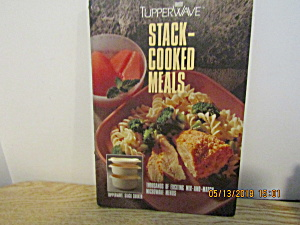 Vintage Cook Book Tupperware Stack-cooked Meals