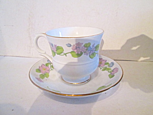 English Bone China Country Garden Cup & Saucer Set