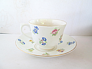 Colclough Scattered Flowers Bone China Cup & Saucer Set