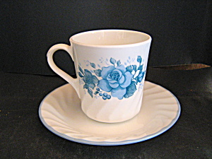 Corelle Blue Velvet Coffee Cup & Saucer Set