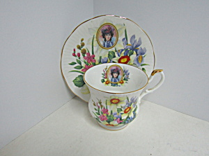 Vintage Avon Queen's Fine Bone China Cup & Saucer Set