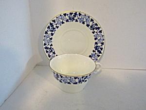 Vintage Brownfield&Son Blue Floral Cup & Saucer Set (Image1)