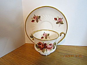 Vintage Priory Dale Pattern Bone China Cup & Saucer Set