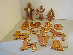 Vintage Copper Colored Cookie Cutter Set