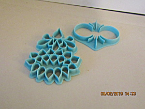 Vintage Wilton Scroll Shapes Cookie Cutter Set