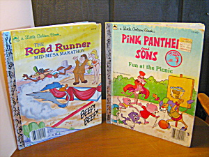Golden Book Pink Panther And Sons & The Road Runner