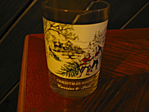 Drinking Glass Christmas Snow Currier & Ives