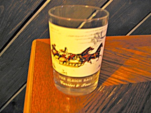 Drinking Glass The Sleigh Race Currier & Ives