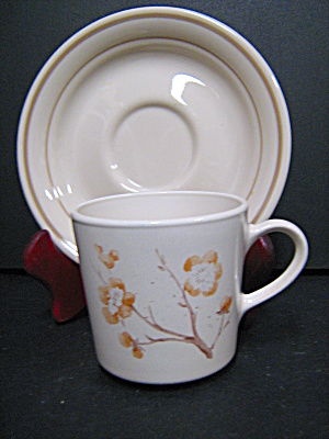Corelle Cornerstone China Blossom Cup And Saucer