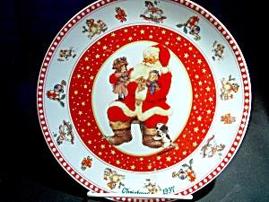 Christmas 1997 Santa Plate by Giordano (Image1)