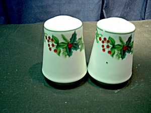 Christmas Holly Salt And Pepper Set