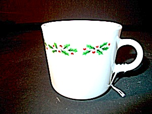 Red Holly Berries Corning Christmas Cup