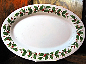 Christmas China Pearl Noel Platter