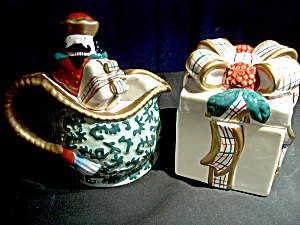 Avon St. Nicholas Sugar And Creamer