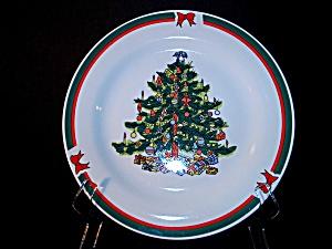 Christmas Tree Rimmed Dinner Plate (Image1)