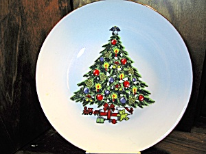 Condition used. Size 10.5\  Type china. Country of Origin CN Manufacturer Jamestown China. Christmas Tree Dinner Plates ... & Christmas Tree Dinner Plates