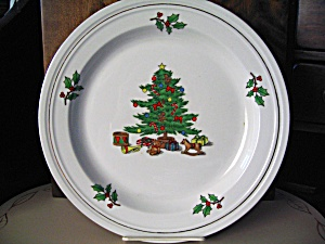 Holiday Hostess Christmas Tree Salad/luncheon Plate