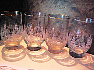 Christmas Winter Snow Glass Set