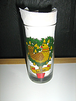 12 Days Of Christmas #1 Partridge In A Pear Tree Glass