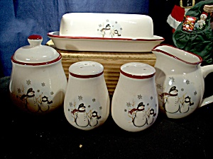 Royal Seasons Snowmantable-top 6 Piece Set