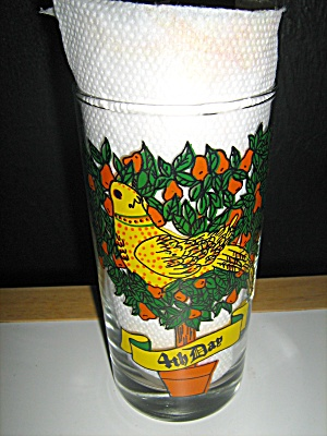 12 Days Of Christmas #4 Four Colly Birds Glass
