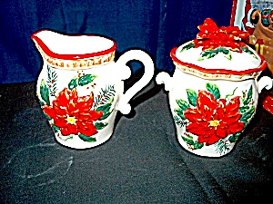 Holiday Ceramic Sugar & Creamer Set