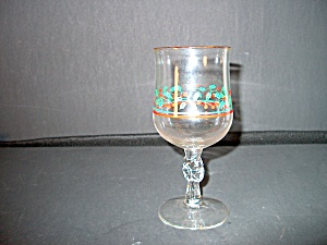 Stemmed Holly Berry Goblets Christmas