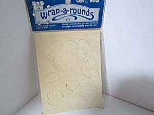 Vintage Small Woodpress-out Wrap-a-rounds Bear