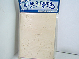 Vintage Wood Press-out Wrap-a-rounds Cow