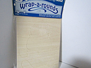 Vintage Wood Press-out Wrap-a-rounds Santa