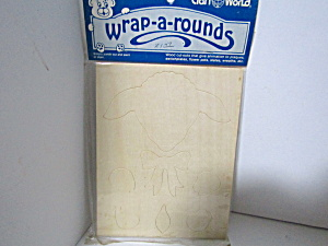 Vintage Wood Press-out Wrap-a-rounds Lamb