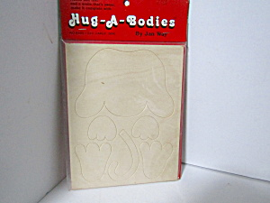 Vintage Wood Press-out Hug-a-bodies Large Dog