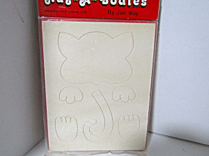 Vintage Wood Press-out Hug-a-bodies Large Cat