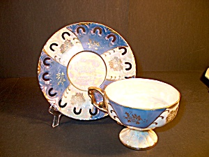 Vintage Cup And Saucer Set Luster Look