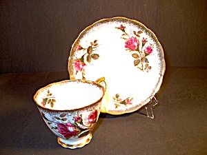 Vintage Pink Rose Cup And Saucer