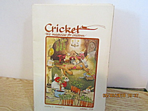 Vintage Childrens Magazine Cricket October 1974